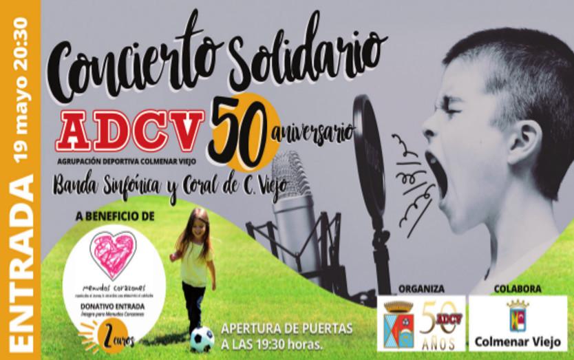 Concierto Solidario con la Banda Sinfónica y la Coral de Colmenar Viejo. 19 de mayo 2018