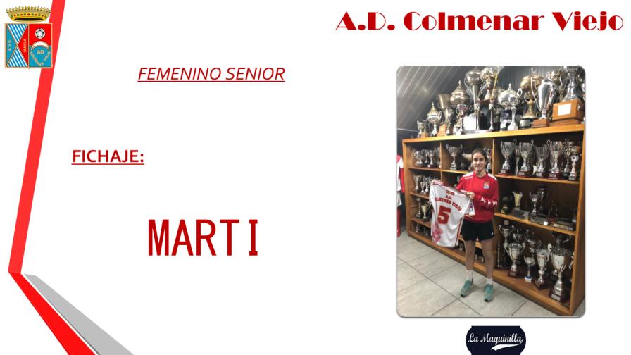 María Martínez (Marti), nuevo fichaje para el Femenino Senior del Colmenar
