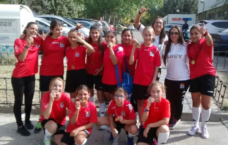 El Femenino Infantil de la ADCV en el Torneo Fiestas del Barrio del Pilar