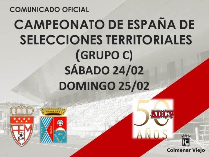 Comunicado Oficial celebración de la 2ª Fase del Campeonato de España de Selecciones Autonómicas