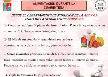 Medidas nutricionales para la ADCV durante la cuarentena por el Covid-19