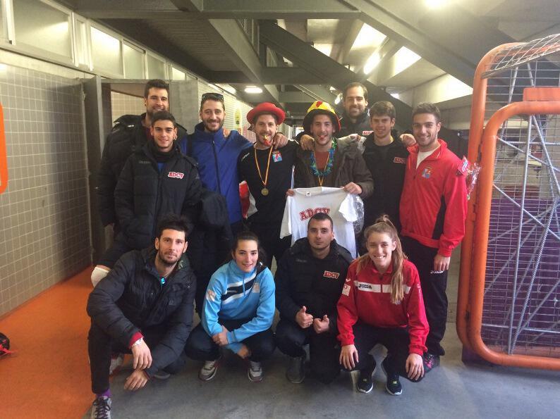 Nevado y Castillo del Alevin B, mejores entrenadores de la ADCV en Febrero