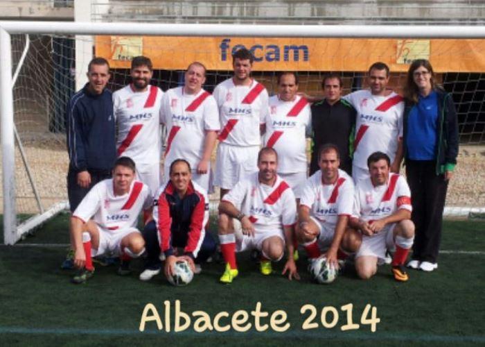 Ex-jugadores de la ADCV en el Campeonato de España de futbol 7