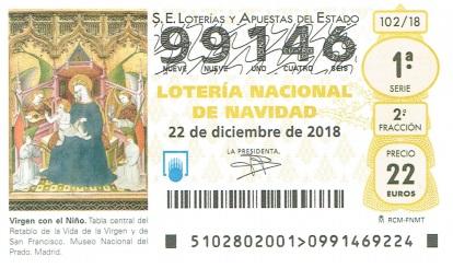 Lotería de Navidad 2018 A.D. Colmenar Viejo