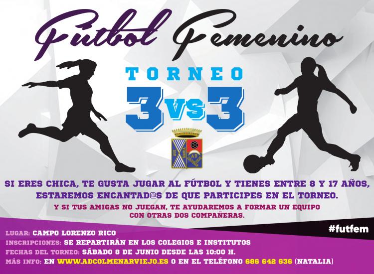 Torneo 3 x 3 de Futbol Femenino 2019 organizado por la A.D. Colmenar Viejo