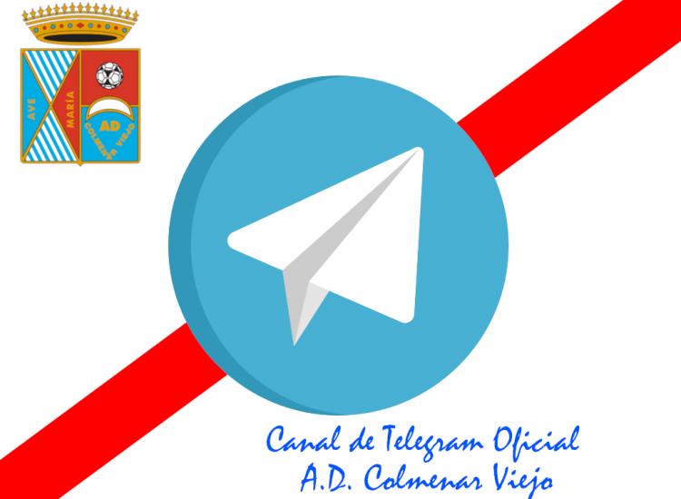 Nace el Canal Oficial de Telegram de la A.D. Colmenar Viejo