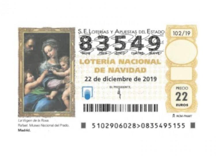 Lotería sorteo de Navidad 2019 A.D. Colmenar Viejo