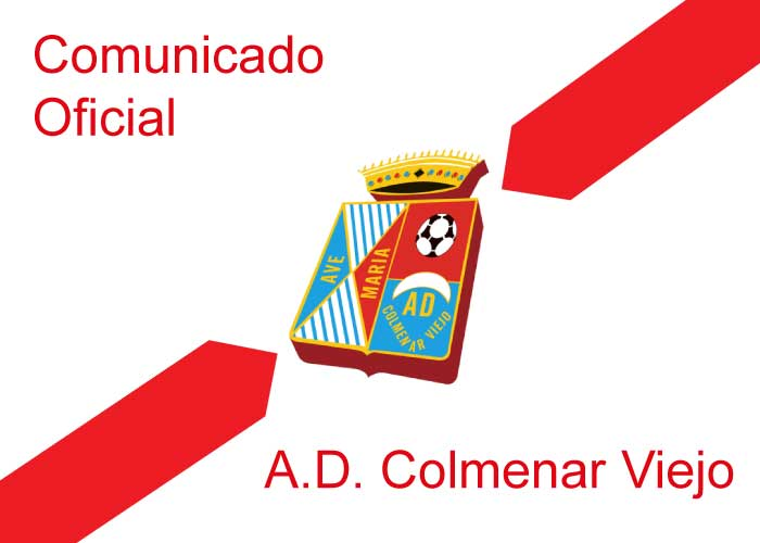 Comunicado de la Junta Directiva A.D. Colmenar Viejo a sus socios