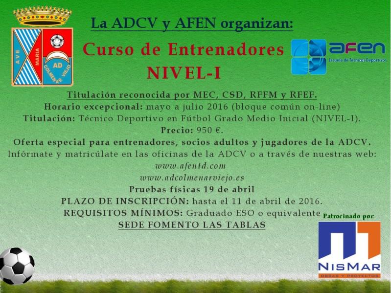 Información e Inscripción para el curso de entrenadores Nivel I