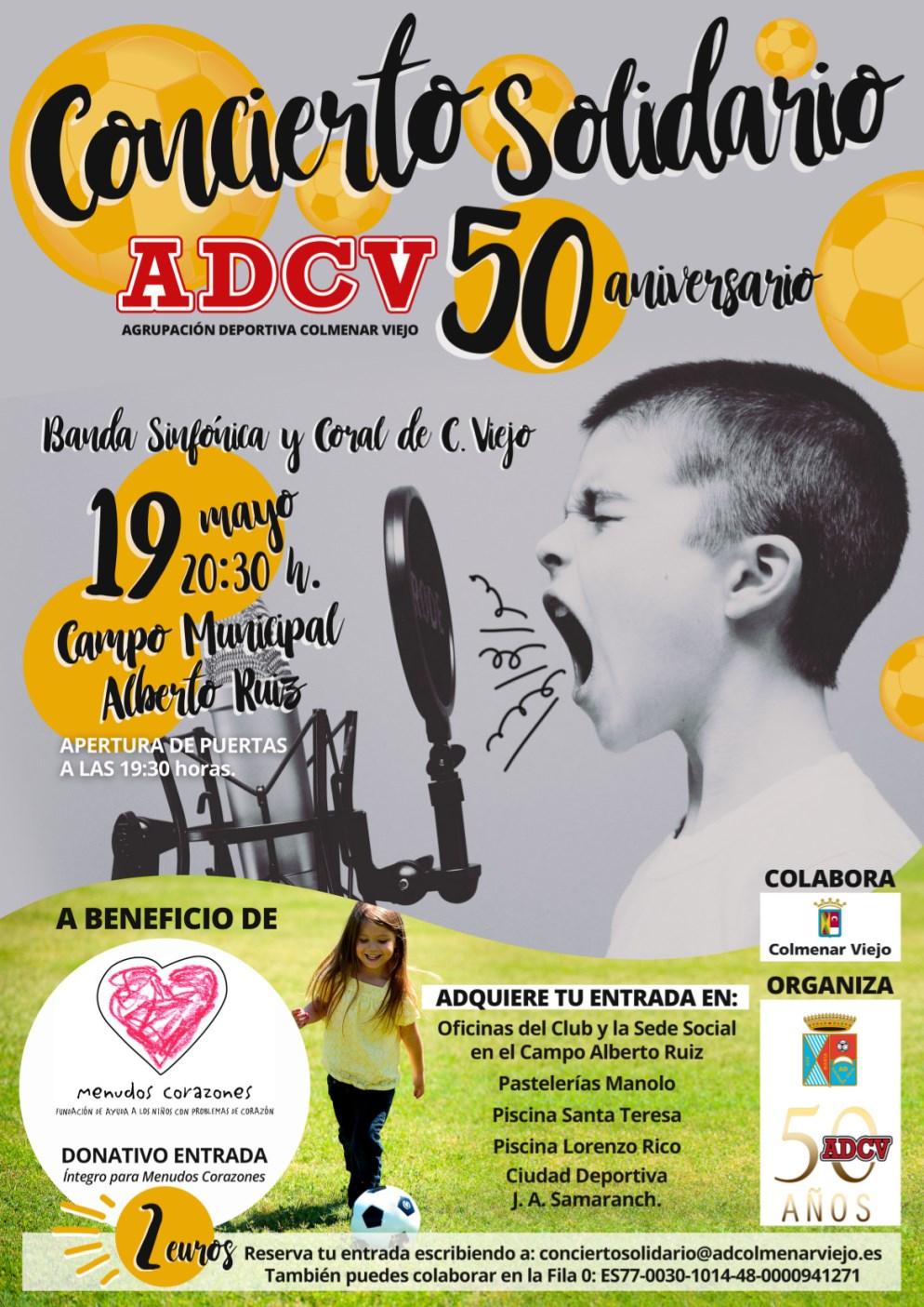 Cartel concierto solidario Banda Sinfónica y la Coral Colmenar Viejo